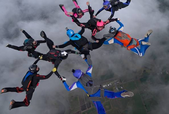 Skydive Auckland - Making an NZ Record!