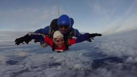 Skydive Auckland Red Cross Jump Live on the AM Show!